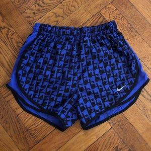 EUC Nike Royal Blue Patterned Shorts